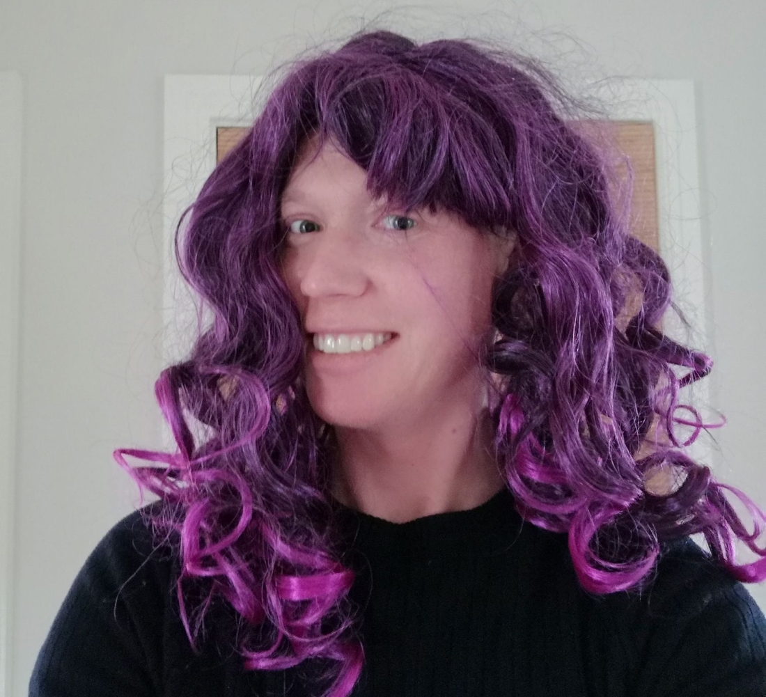 me in a purple wig