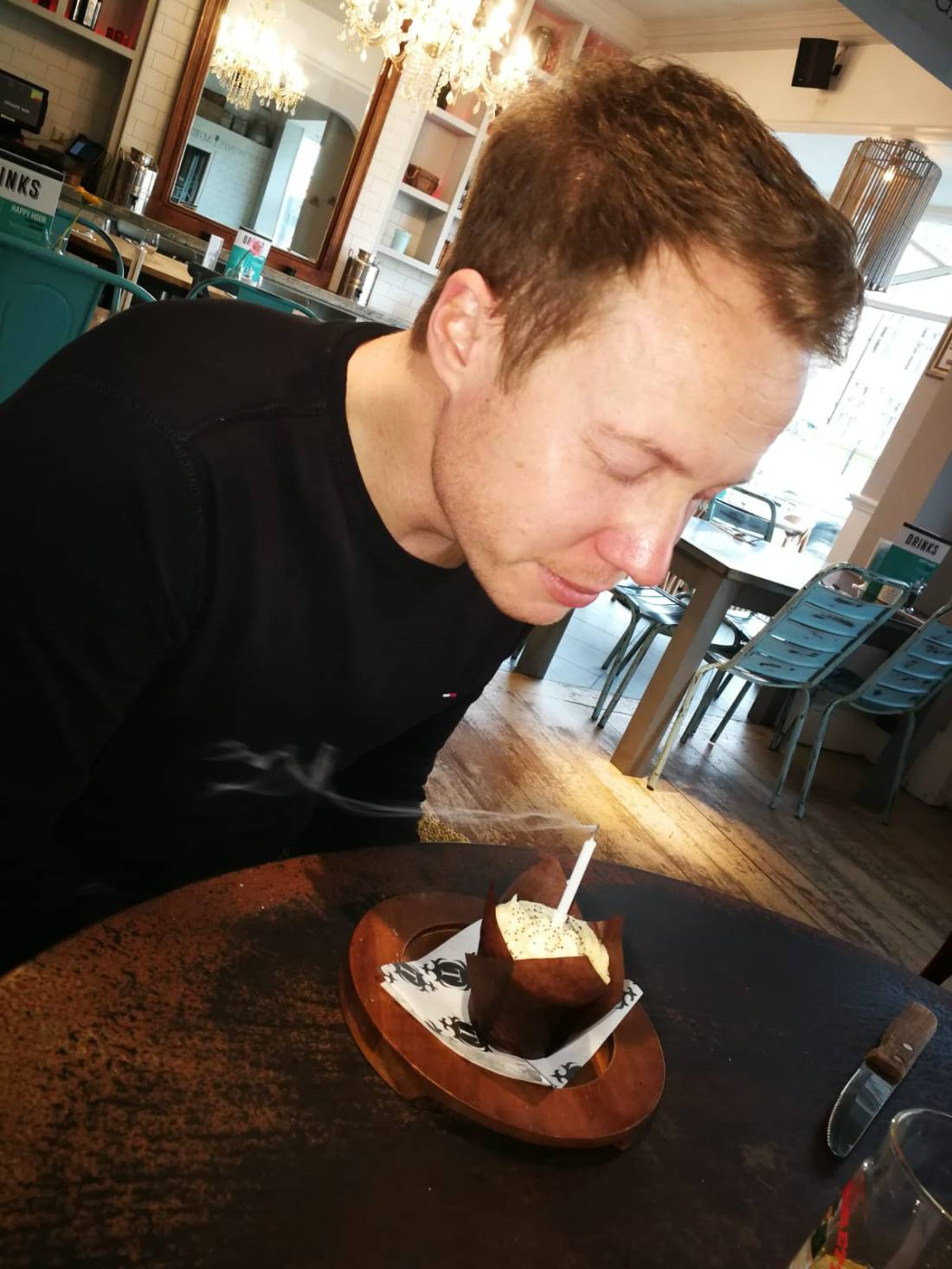 me blowing birthday candle out